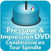 CD DVD Gravure & Packaging Pressage de DVD livré sous Spindle