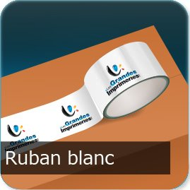 ruban adhésif personnalisé Ruban Blanc