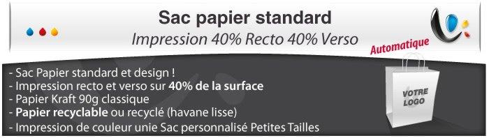 Sac Publicitaire Sac Papier - Impression 40% Recto et 40% Verso