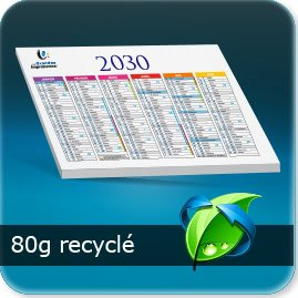sous main personnalisé 80g recyclé