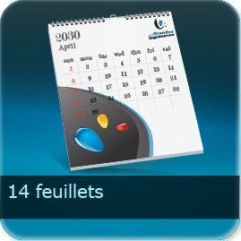 Calendriers 14 feuillets