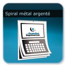 Calendriers Spirale  métal argenté