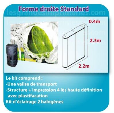 le monde du Stand parapluie Forme droite standard 4 lès 2.2x2.3x0.4m detail sur site