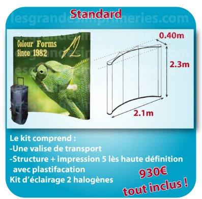 le monde du Stand parapluie Forme standard 2.1x2.30x0.40m detail sur site
