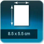 Autocollant & Étiquette 85x55mm