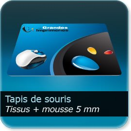 tapis de souris personnalisé Tissus + Mousse de 5mm