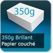 Dépliants / Plaquettes 350g Brillant Couché