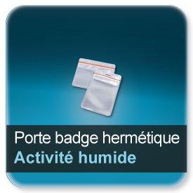 Badge Porte badge hermétique souple vinyle transparent, fermeture glissière perforé, pour badge 86x54mm