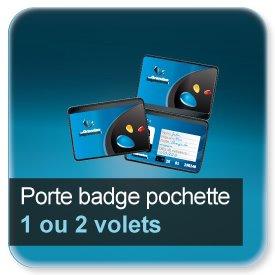 Badge Porte badge pochette plastique souple, pour badge 86x54mm