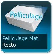 Cartes de correspondance Pelliculage Mat Recto
