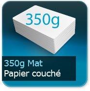 Cartes de correspondance 350g couché mat