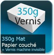 Flyers 350g couché mat + vernis machine invisible