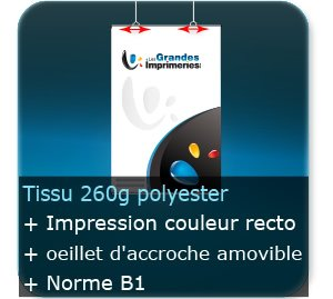 Kakémono / roll up quadri  simple face - sur tissus 260 gr polyester norme B1