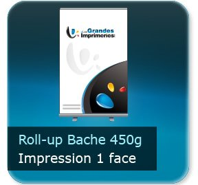 Kakémono / roll up Roll-up bache 450g - Impression couleur 1 face