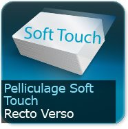 Cartes de correspondance Pelliculage Soft Touch velours Recto Verso