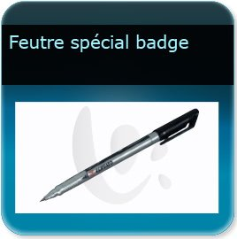 Badge plastique personnalisé Stylo feutre noir indélébile pointe fine pour écriture badge