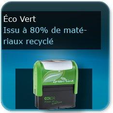 Tampon personnalisé écologique en matériaux recyclés