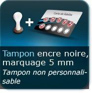 Cartes de visite 1 tampon encre noire de marquage 5 mm non personnalisable