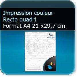 Lettres à en tête A4 21 x 29,7 cm - Impression couleur au Recto quadri